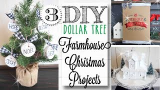 DIY Dollar Tree Farmhouse Christmas Crafts | 12 of 12 Days of Christmas