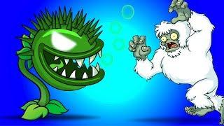 MAX LEVEL CHOMPER Power Up vs Yeti in Plants vs Zombies 2 Gameplay
