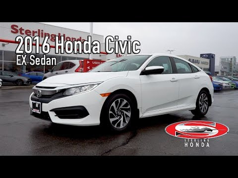**SOLD** 2016 Honda Civic EX : Features & Walk-around (Sterling Honda)