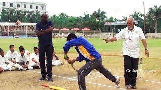 Telangana Cricket Association gives Batting coaching for District Coaches - Cricket Telangana
