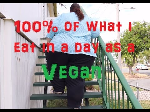 What a morbidly obese VEGAN eats in a day 100% #3