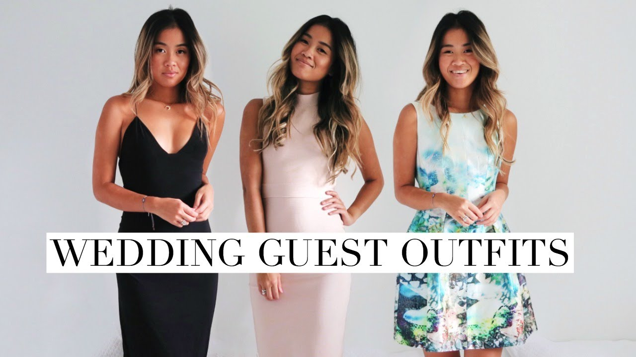How I Style Wedding Guest Outfits Rachspeed Youtube