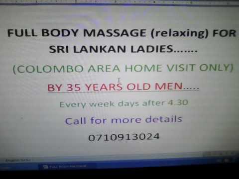 FULL BODY MASSAGE FOR LADIES SRI LANKA COLOMBO