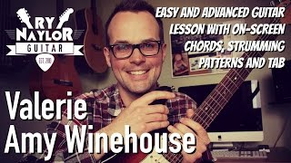 Download lagu Valerie Guitar Lesson Easy and Advanced Guitar Tutorial MP3