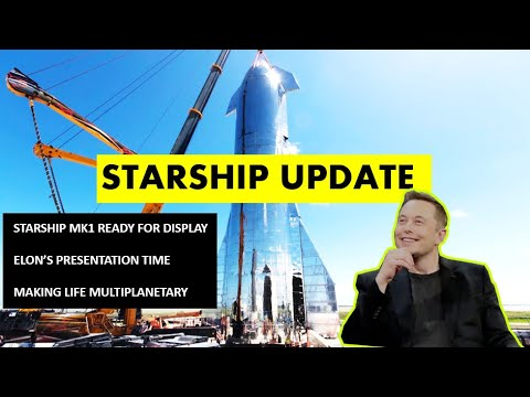 SpaceX Starship Updates - Starship Mk 1 STACKED & Ready for Elon Musk's Presentation!