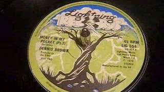 Dennis Brown - Money In My Pocket Part 1 & 2 - Reggae - 45 rpm Vinyl