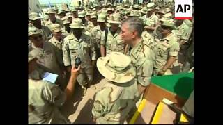 Chairman of Joint Chiefs of Staff visits troops and gives presser