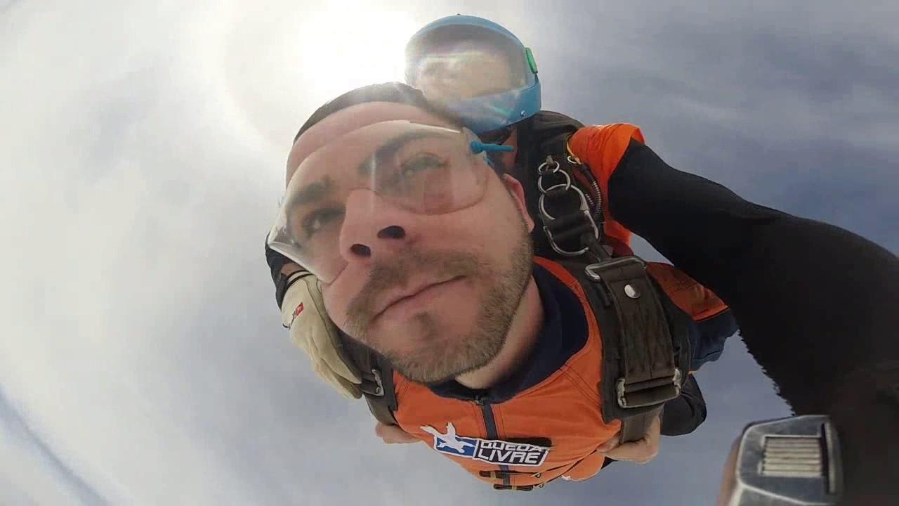 Salto de Paraquedas do Marco A na Queda Livre Paraquedismo 21 01 2017