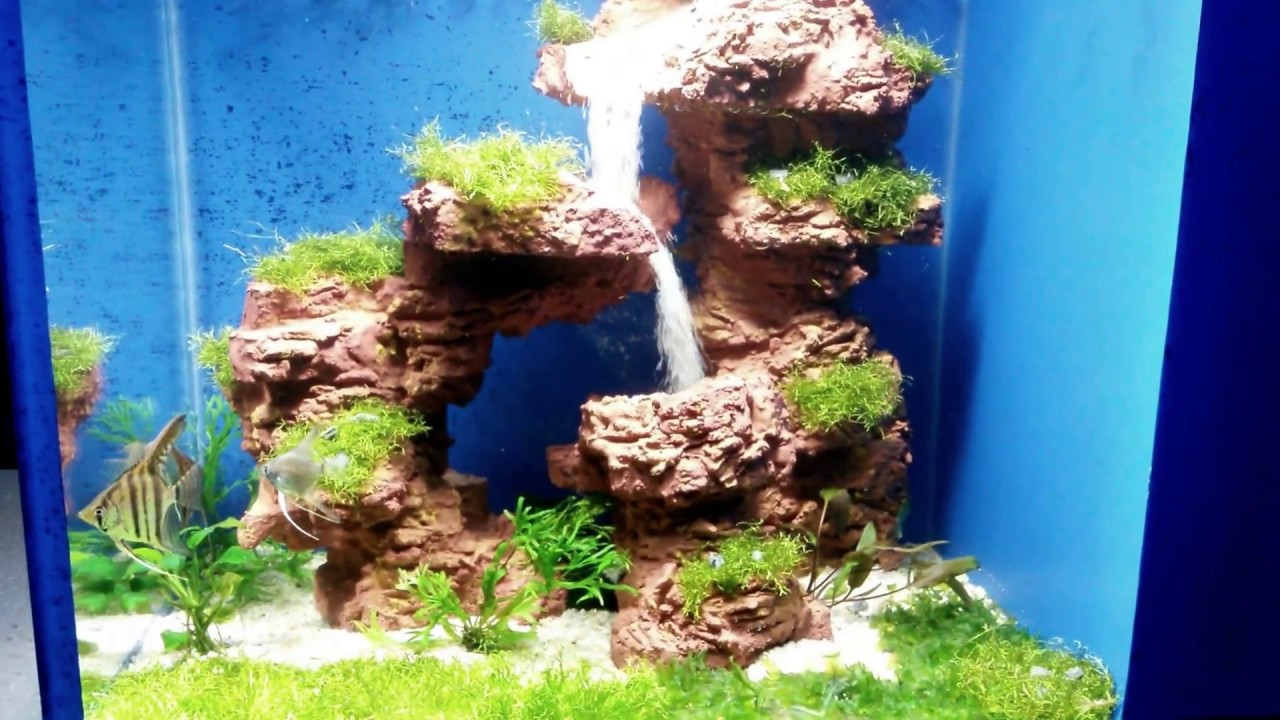 Aquarium sand waterfall 28 youtube for Waterfall fish tank