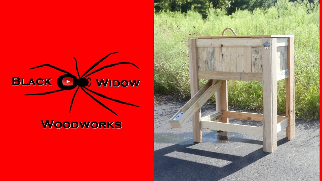 🕷 Beer Dispensing Rustic Cooler Box Pallet Upcycle Challenge