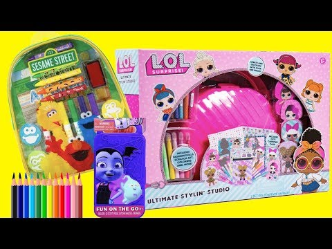 Coloring LOL Surprise Sesame Street Vampirina & More | Toys and Dolls Pretend Play for Kids | SWTAD