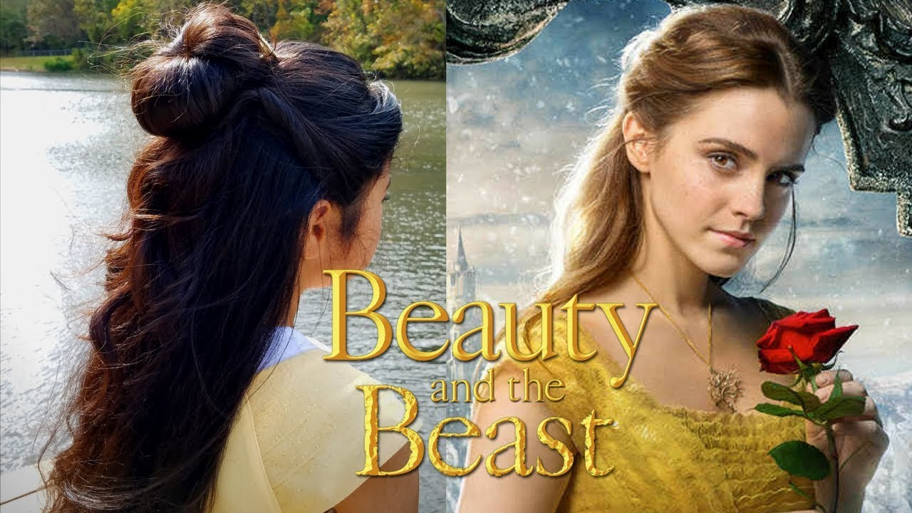 beauty and the beast hair tutorial || belle's hairstyle