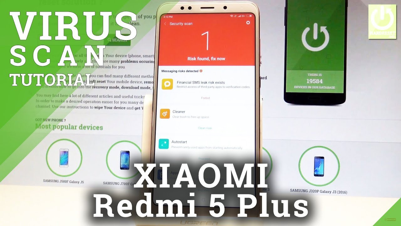 How to Secure XIAOMI Redmi 5 Plus - Virus Scan / Risk Detection