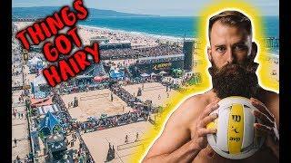 I got a RED CARD | AVP Hermosa Beach Volley Vlog 2018