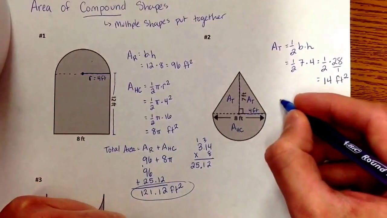 Area Of Compound Shapes Youtube