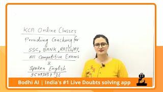Solve your doubts   KCA Online Classes   Bodhi AI