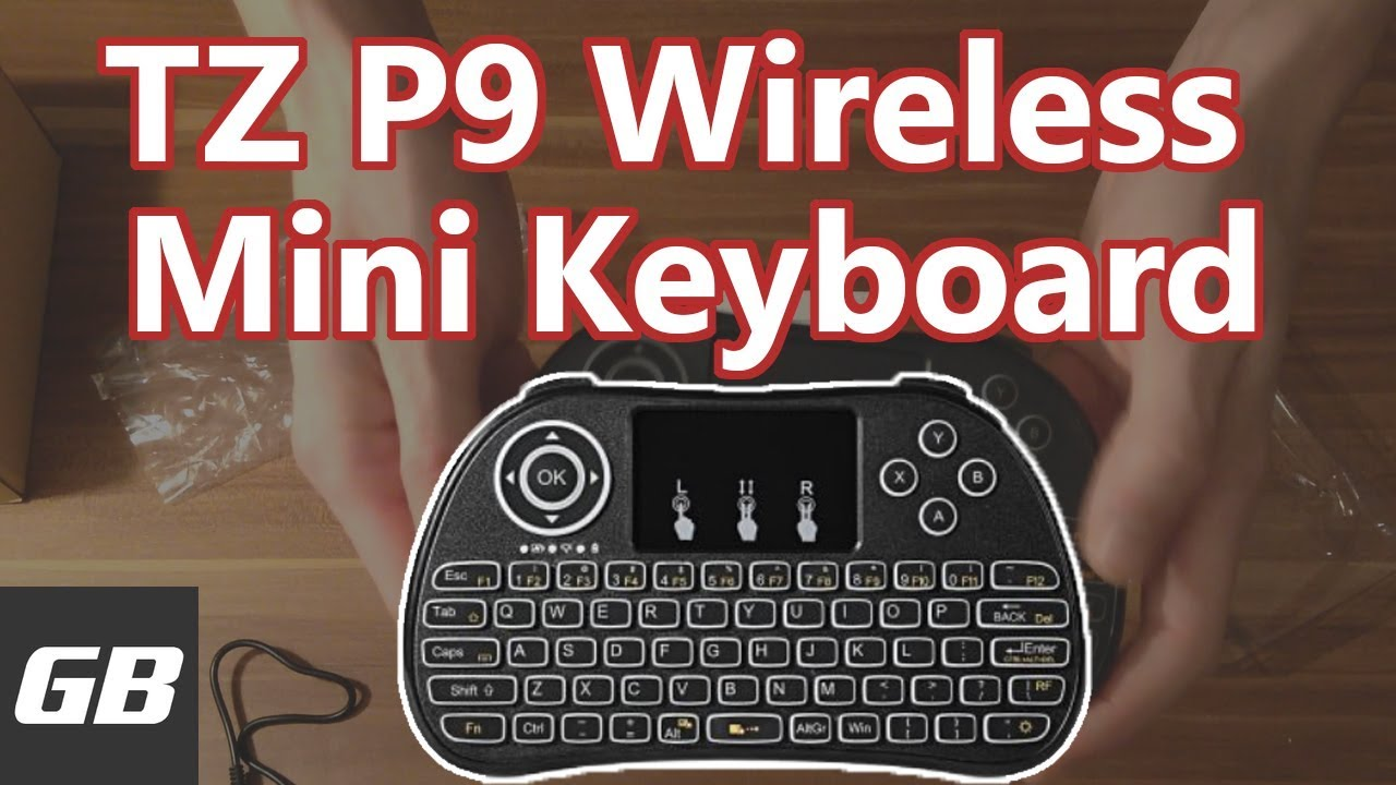 254a0e9bda3 TZ P9 Wireless Mini Keyboard with Mouse Touchpad | UNBOXING - YouTube