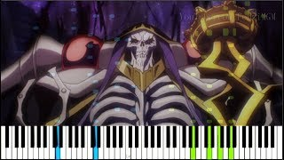 """Overlord Season 2 OP - """"GO CRY GO"""" by OxT (Synthesia Piano Tutorial)"""