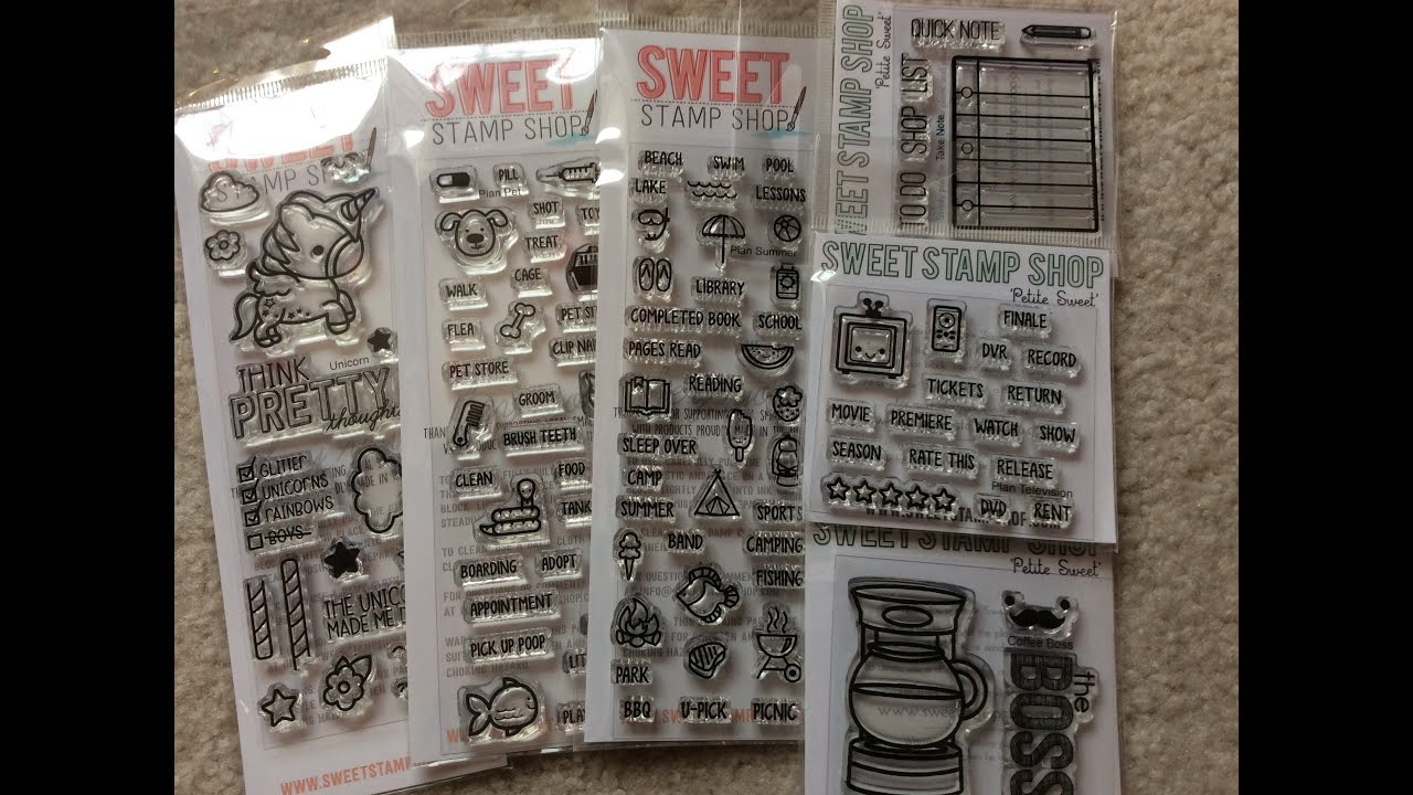 Planner Scrapbooking Stamp Haul From Sweet Stamp Shop Youtube
