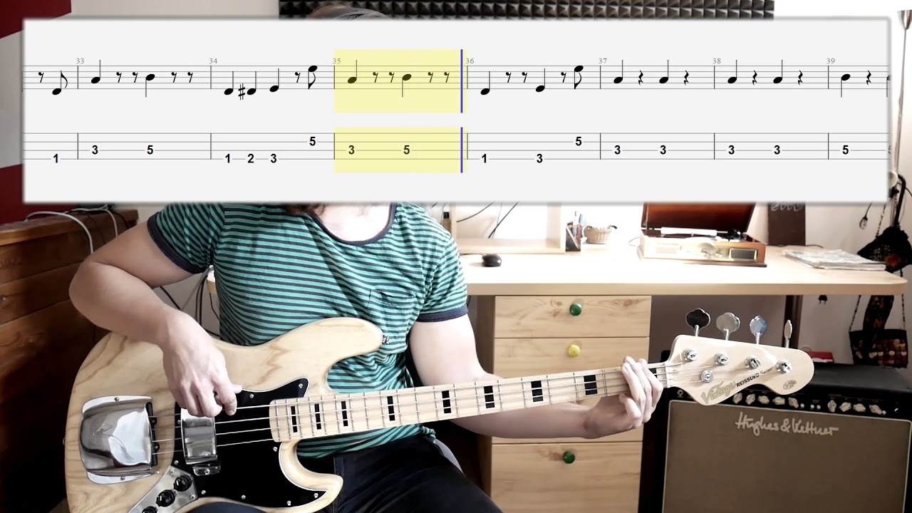 The Temptations My Girl Bass Cover With Tabs In Video Chords