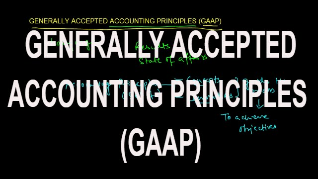 Generally accepted accounting principles and total