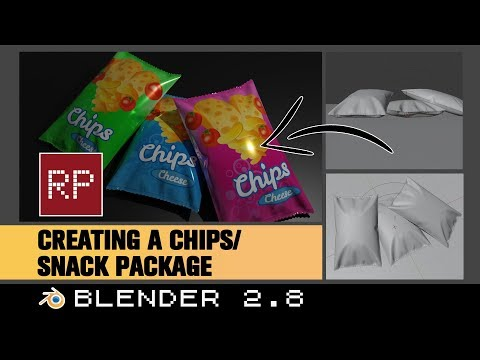 Blender 2.8: Creating A Chips/ Snack Package