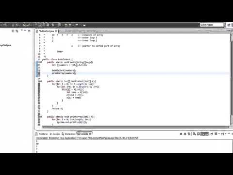Java Algorithm - Bubble Sort