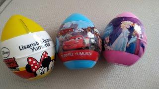 Karlar Ülkesi Elsa Mickey Mouse Hot Wheels Cars Sürpriz Yumurta Açtık | Eğlenceli Çocuk Videosu