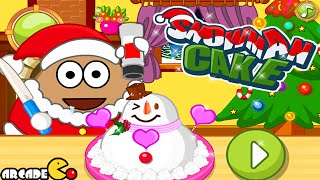 Pou Christmas Snowman Cake Walkthrough
