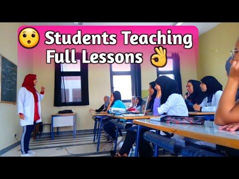 Students Teaching in Argane High School, Morocco.