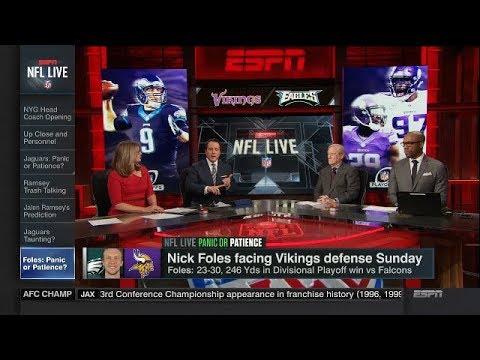 Nick Foles Facing Vikings Defense Sunday | NFL Live | Jan 16, 2018
