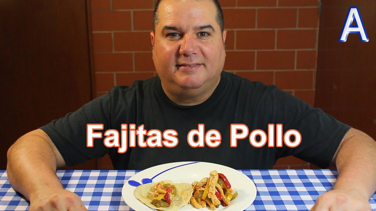 Fajitas de pollo recetas de cocina mexicana faciles for Comidas faciles de preparar en casa