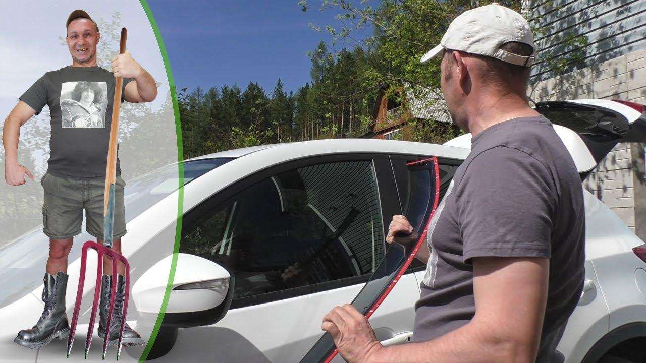 Установка ВЕТРОВИКОВ (дефлекторов) ОКОН на Автомобиль