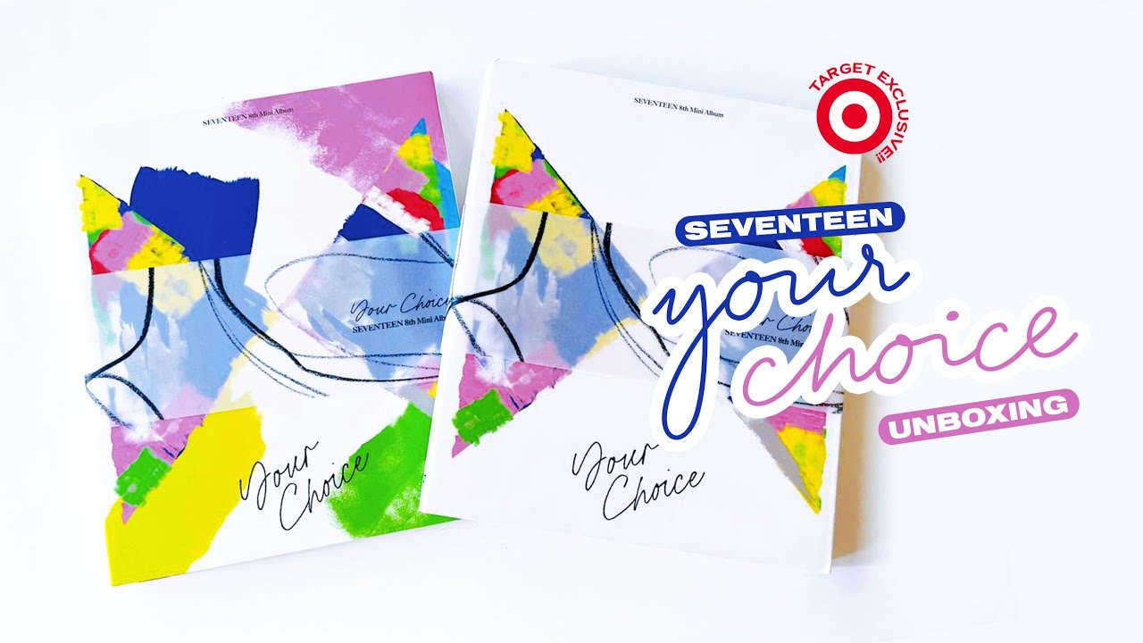 Unboxing Seventeen 세븐틴 'Your Choice' Album ♢ Target Exclusive - One Side and Other Side Versions