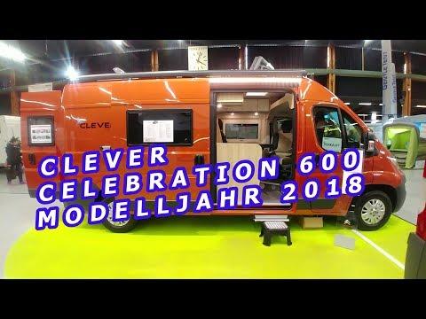 CLEVER CELEBRATION 600, MODELLJAHR 2018, KASTENWAGEN TOUR,  SUISSE CARAVAN SALON