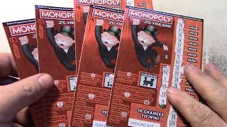 Amazing 5 Wins out of 10 MONOPOLY Scratchers