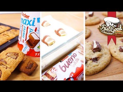 Compilation de recettes Kinder : Cookies,...