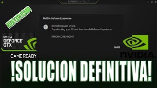 Download - Fix Something went wrong  Try restarting GeForce