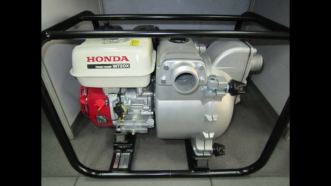 мотопомпа бензиновая для грязной воды honda wt-20x