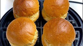와플기계로 계란참치계란참치 치즈 모닝빵 샌드위치 만들기…