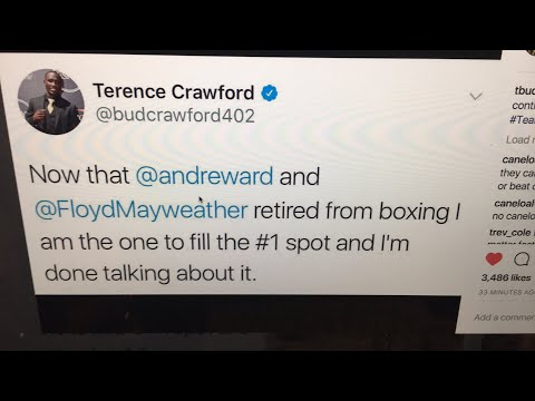 Live Chat: Terence Crawford says he's #1 p4p with Floyd & Andre Ward now RETIRED