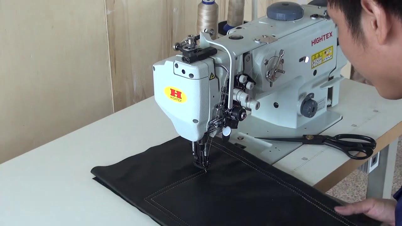 Máquina de coser 2 agujas y triple arrastre con barras de