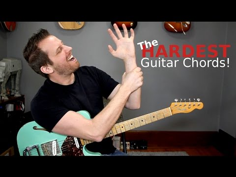 The HARDEST Guitar Chords - Try To Play Them All!