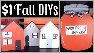 DIY $1 FALL DECOR DIYs | DOLLAR TREE DIY | FALL IN JULY DAY 7