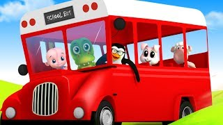 Wheels On The Bus | Nursery Rhymes Songs For Babies | Kids Song For Children