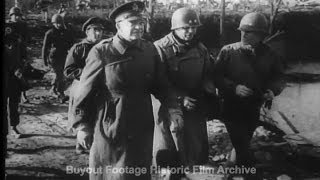 Historic Archival Stock Footage WWII - Allied Leaders Visit Western Front