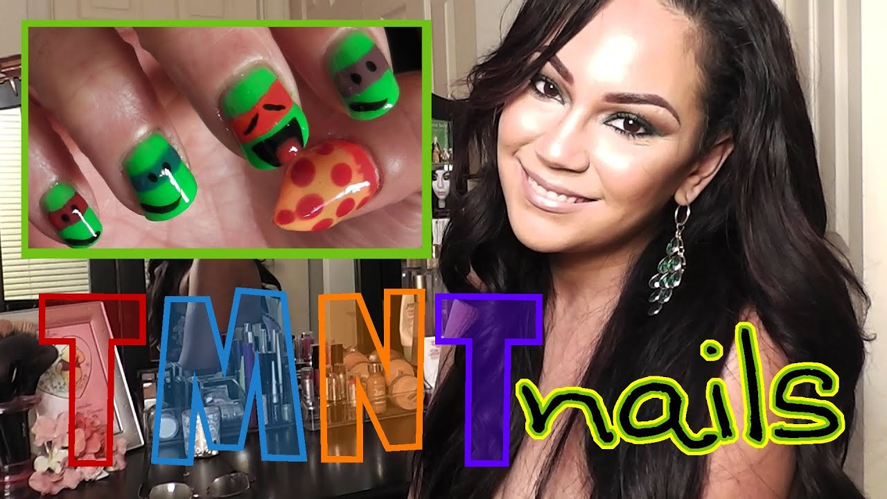 Teenage Mutant Ninja Turtles Nail Tutorial (1080p HD) - YouTube