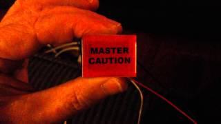 Simulated Master Caution light