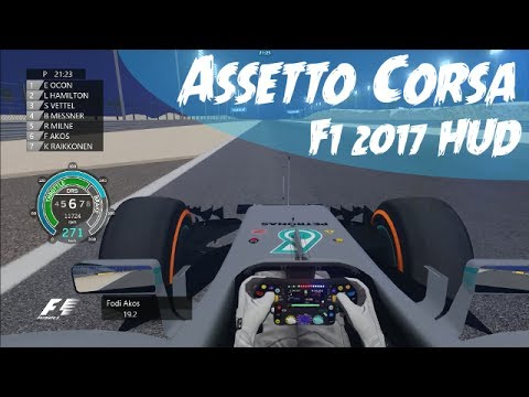 Assetto Corsa - F1 2017 HUD + TV Style (Onboard Valtteri Bottas)