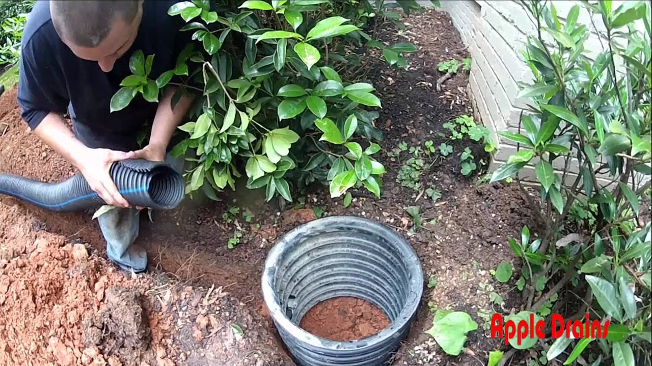 Adding Rain Chain and French Drain Adding